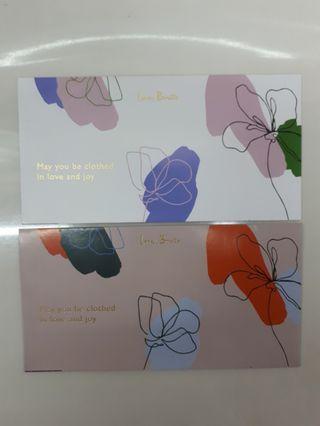 Angpao packet sampul duit raya Love, Bonito fashion