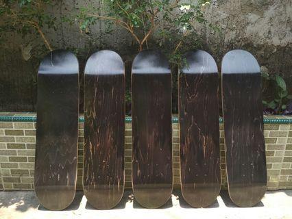 Blank Deck Skateboard 8.0 Black