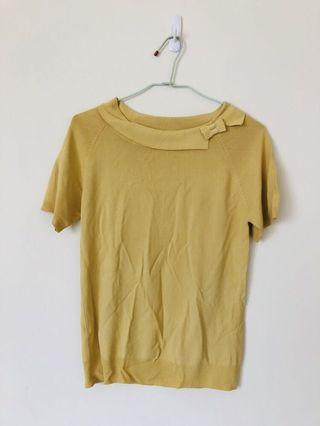 鵝黃針織上衣 #5折清衣櫃