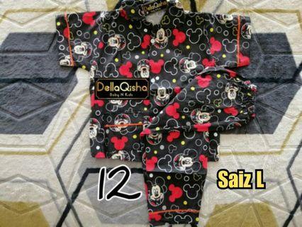 Pyjamas Button Kids Girl Boys