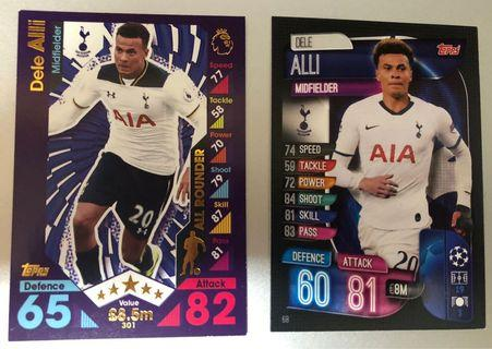 Match Attax- Before After- Dele Alli