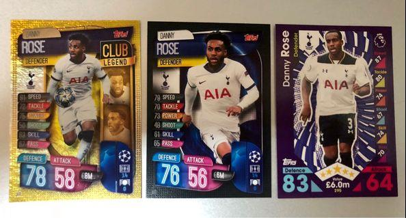 Match Attax- Before After- Danny Rose