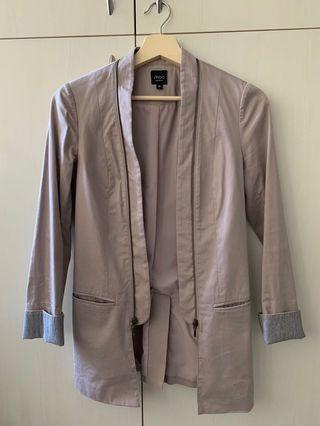 二手iROO芋頭紫莫蘭迪紫秋天西裝外套