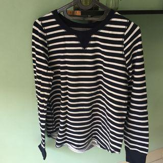 H&M - Striped Long-sleeves (Navy White)