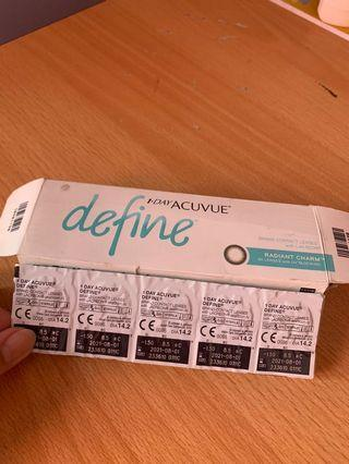 Softlense acuvue 1 day  -1.50  14pcs