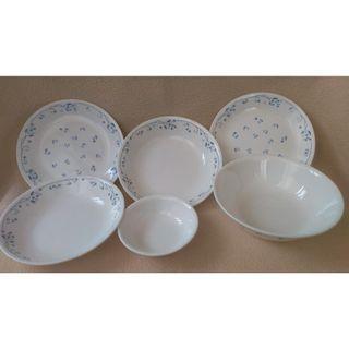 美國康寧 CORELLE 古典藍6件式餐盤組
