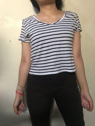 Bershka top striped