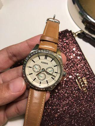 Fossil Analog Leather Watch