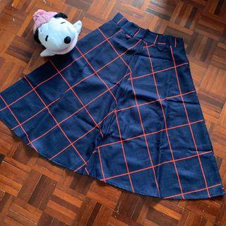 Blue-Red Chequered Skirt