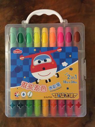 全新雙頭36色色筆