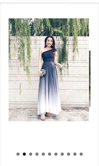 Theory of seven ombre dark Ash toga dress