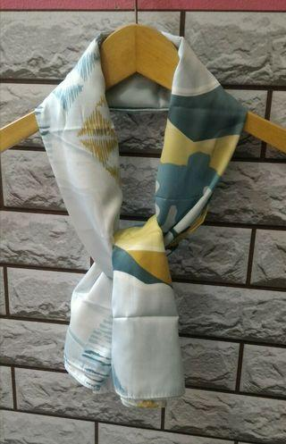 Light Grey Printed Scarf