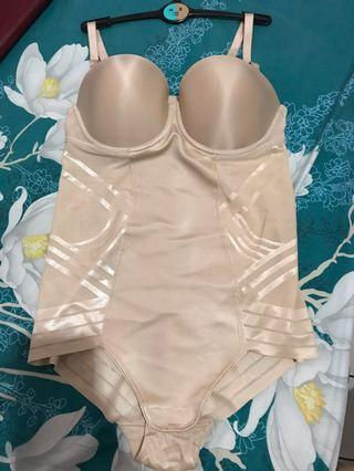 Marks and Spencer Magicwear Strapless Body Firm Control Lingerie / Bra / Corset