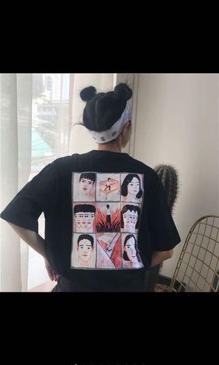韓版原宿bf寬鬆上衣
