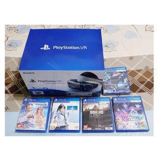 (含遊戲+免運費)全新PS4 VR虛擬實境設備整盒