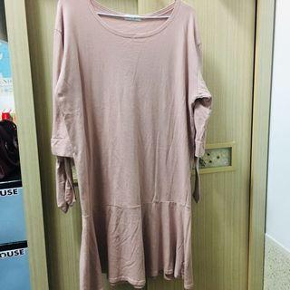 全新正韓粉色魚尾洋裝