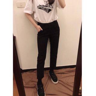 黑色直筒褲