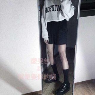 韓版百搭高腰西裝短褲
