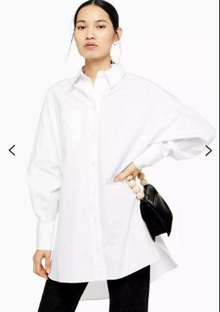 Topshop Oversized White Button Up