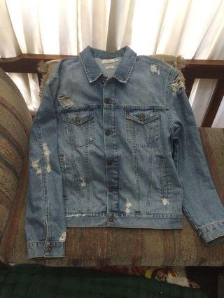Topman ripped Denim Jacket jeans limited edition
