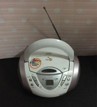 歌林KOlin手提式MP3/CD音響 機型:KCD-W7081M 可播放:Mp3/CD/收音機~二手