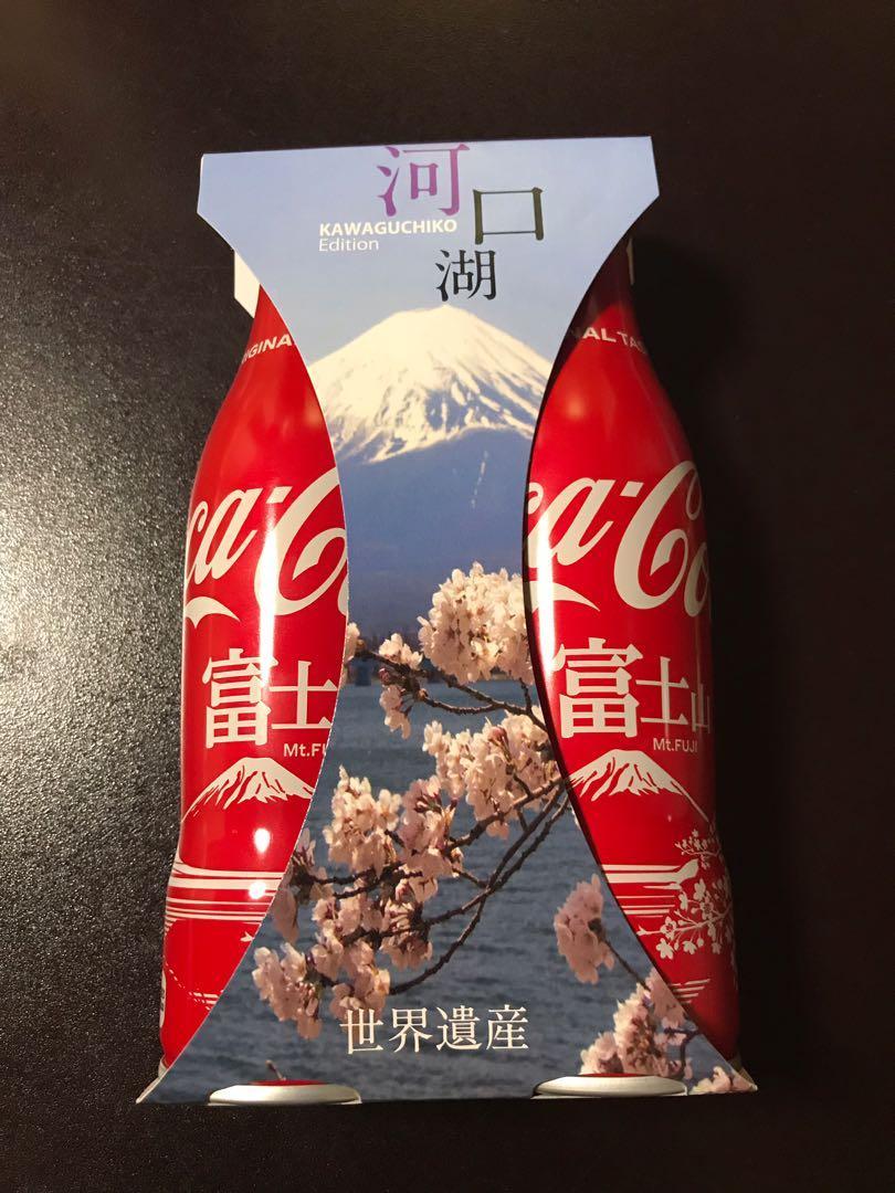 全新未開河口湖限定富士山版可口可樂兩支裝