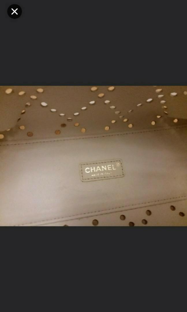 (假野可報警) 95新 正版 Chanel 手袋 送化妝袋