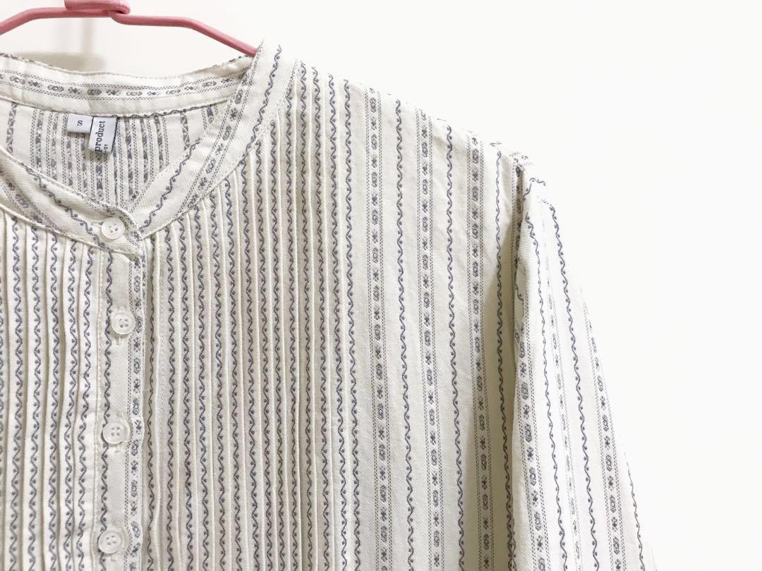 降!米色定染色織古著風連衣裙 洋裝