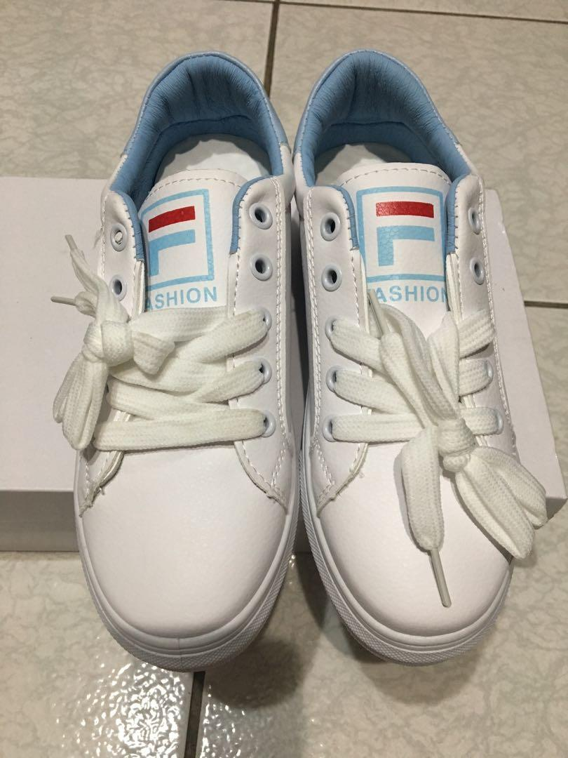 全新 FILA白鞋 小白鞋 走路鞋 休閒鞋36