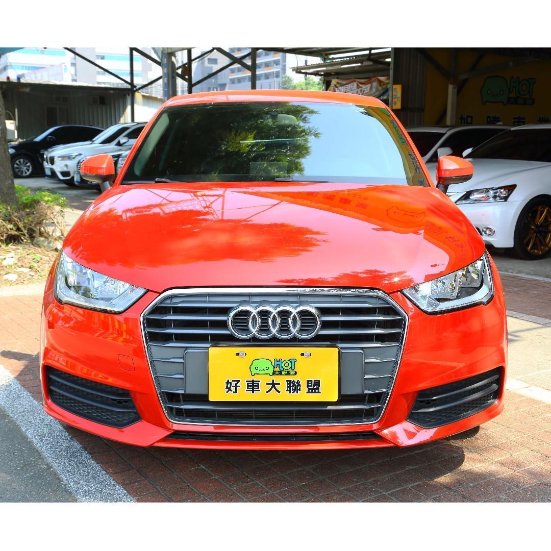 旭騰車業 HOT大聯盟認證 2017 Audi A1 25 TFSI 紅色 車美 狀況優 好操控