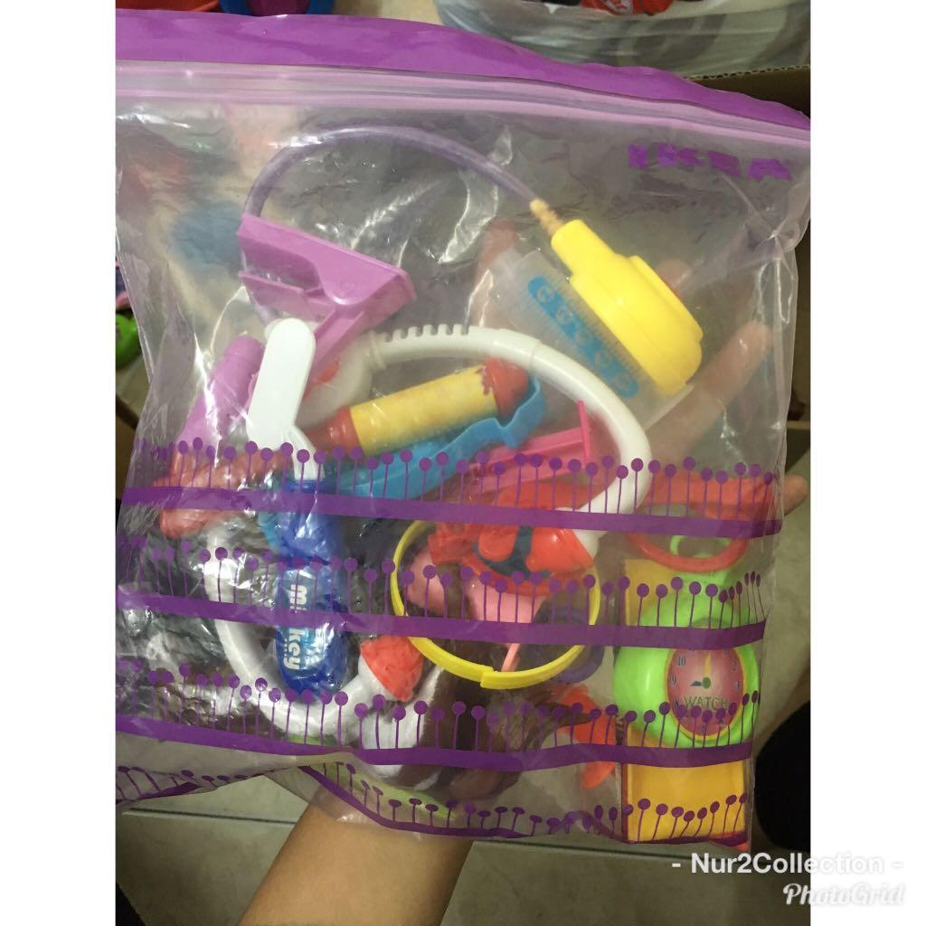 A box full of all these toys