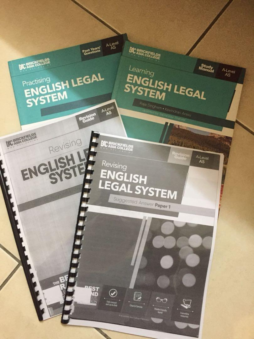 English Legal System Textbook (A Levels)