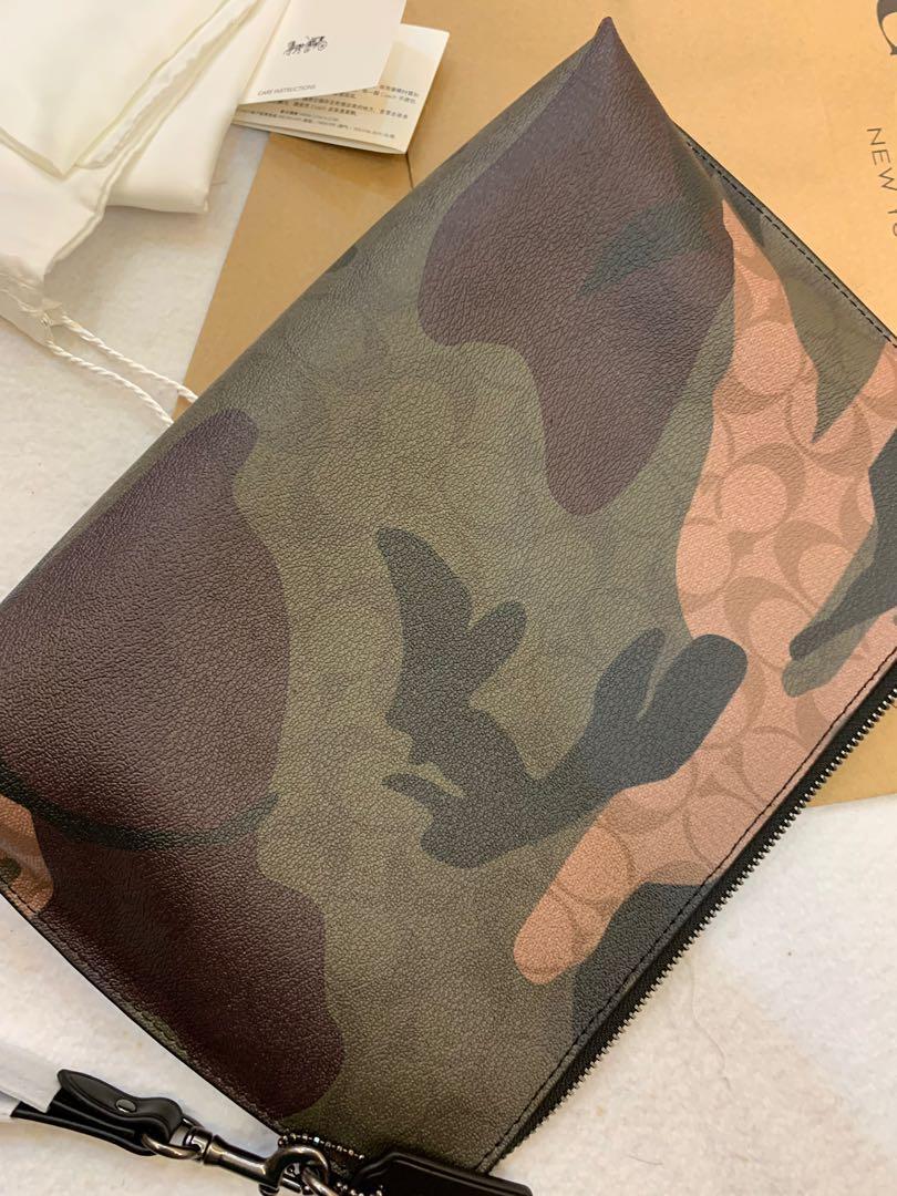 Authentic coach 29127 men clutch money clips iPad bag