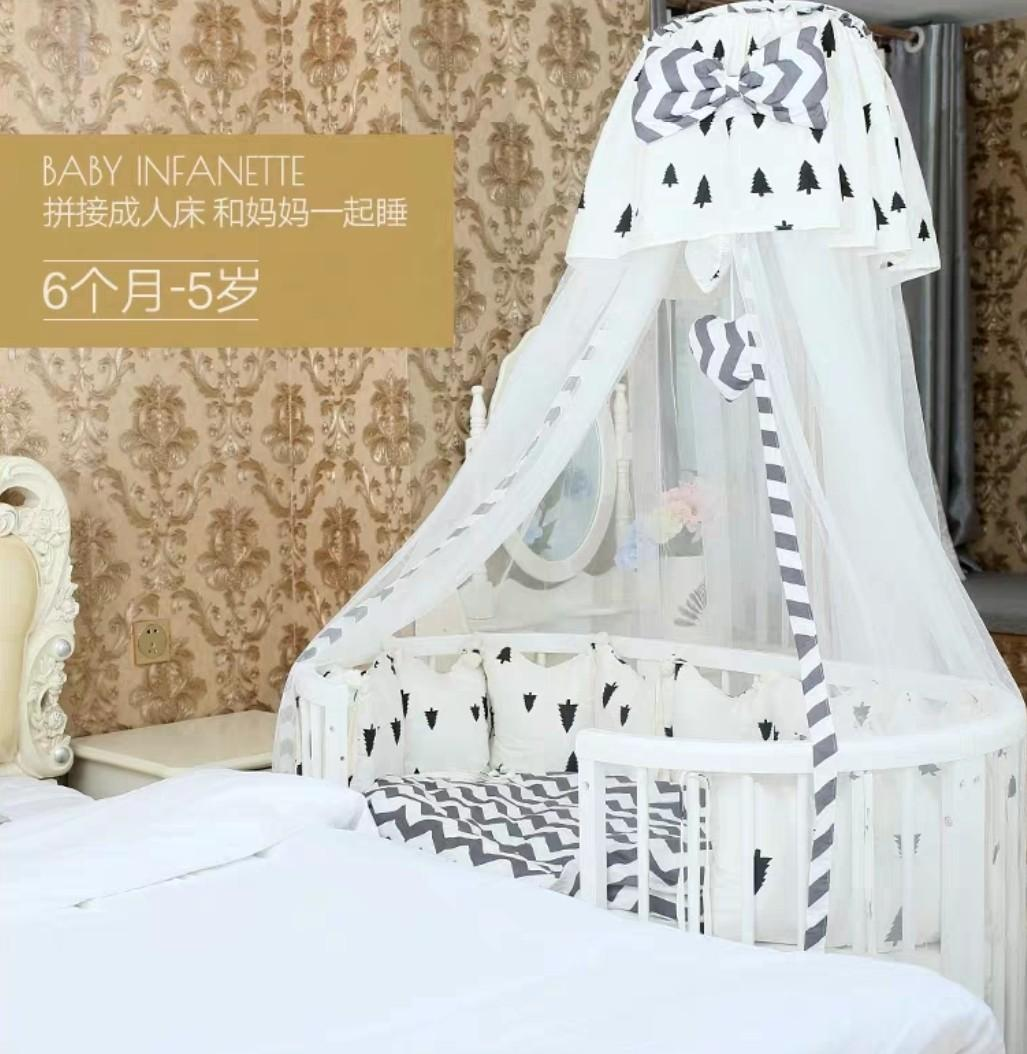 <1111 Promo>Baby Multi Functional Round Cot Co sleeping bed safe baby bed