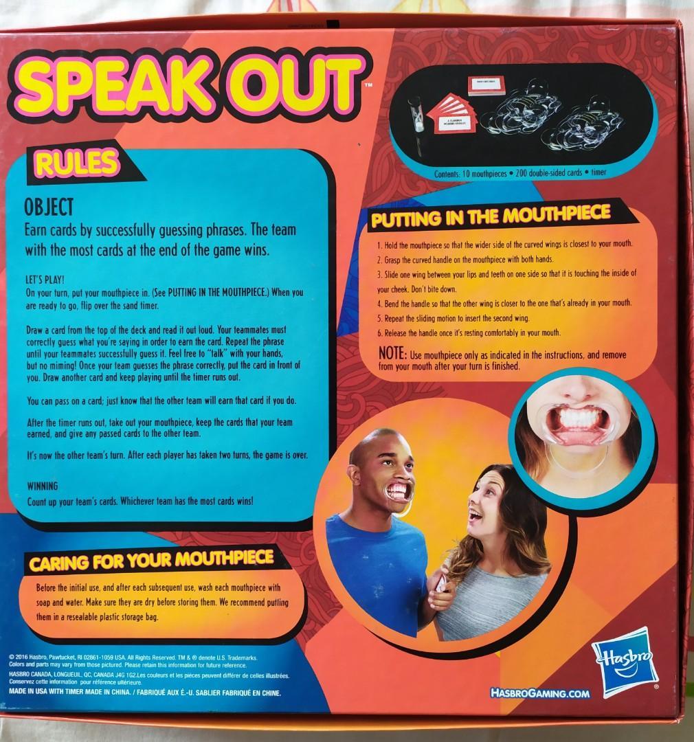 BNIB Speak Out Game Boxset
