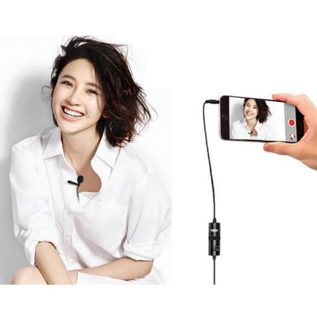 BOYA BY-M1 Omnidirectional Lavalier Microphone (For Mobile Devices, Smartphones, DSLRs, Camcorders, Audio Recorders)
