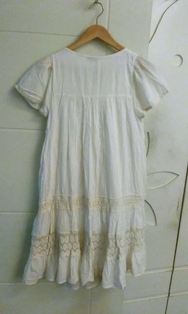Earth&music森林系蕾絲棉洋裝(日本帶回)