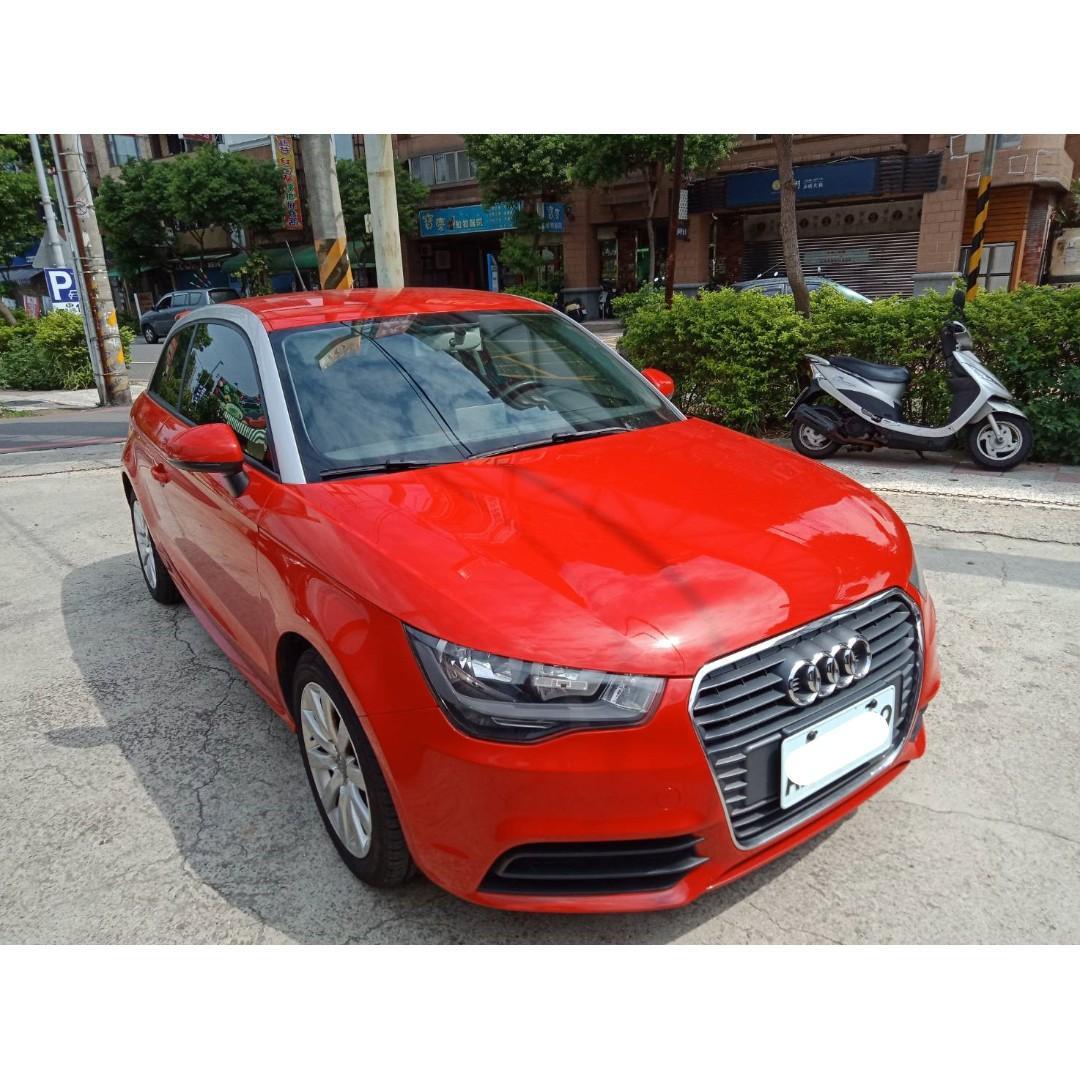 【FB搜尋桃園阿承】奧迪 超人氣A1跑7萬 2011年 1.4 紅色 二手車 中古車