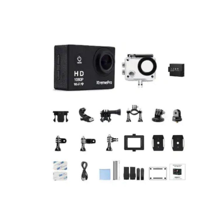 Full HD 1080p WiFi Waterproof Action Sports Camera Bundle