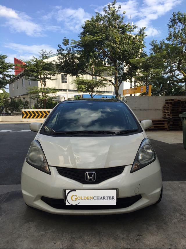 Honda Fit 1.3A G For Rent! With gojek rental rebate available!