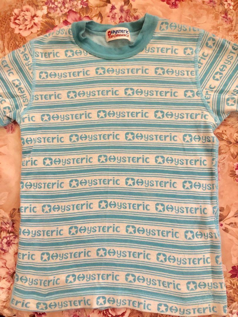 Japan Hysteric sky blue slim fit tee Hysteric 天藍色修身T Shirt