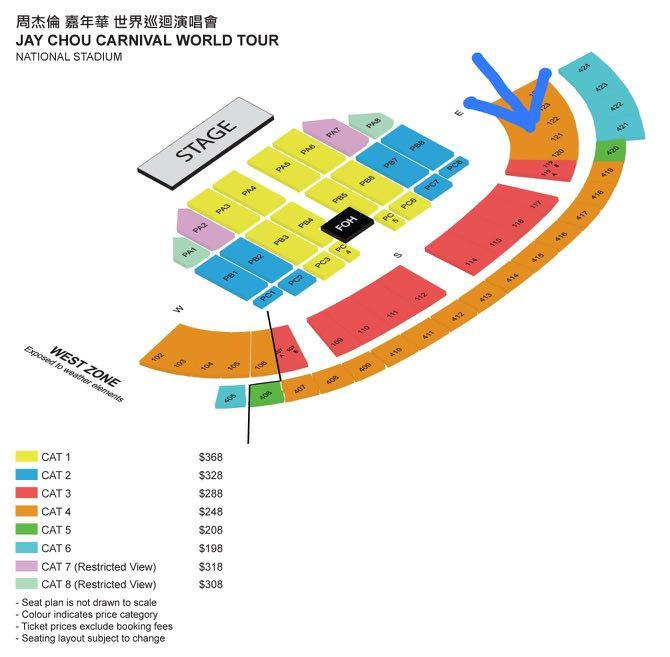 Jay Chou 2020 Concert Ticket 《 CAT 4》