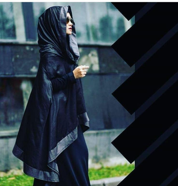 Leather Khimar WIth Jubah