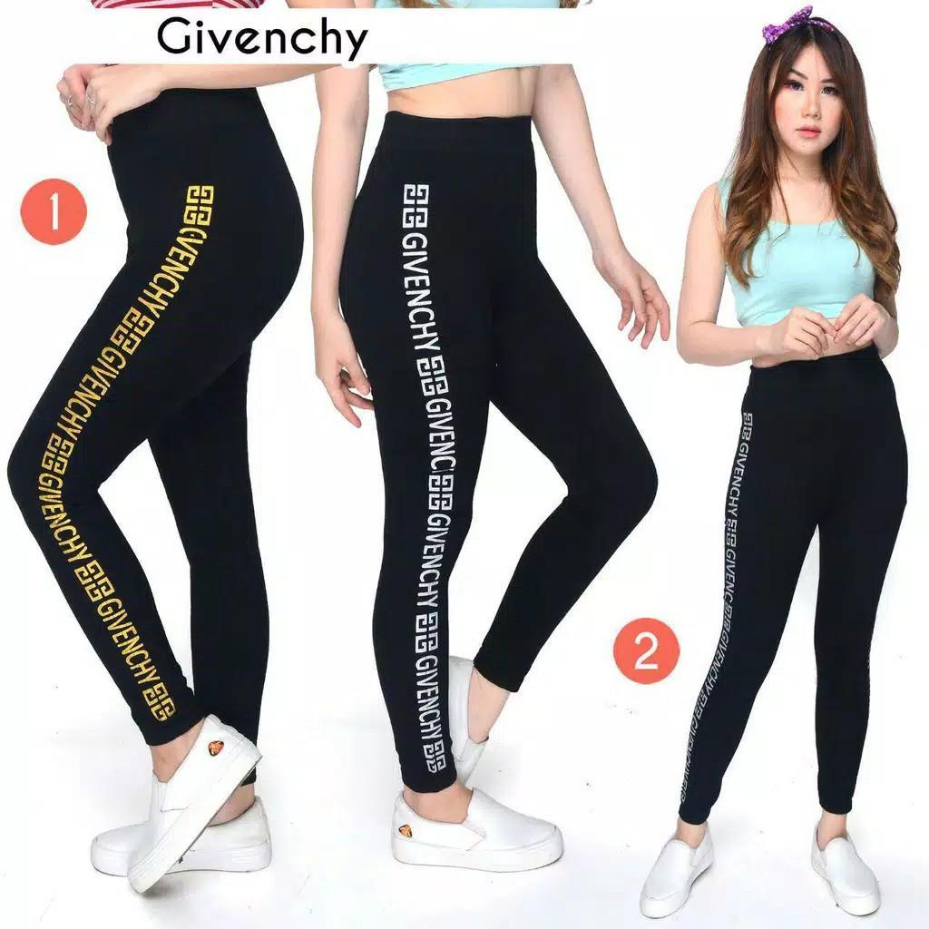 Legging Wanita Import Legging List Givenci Legging Olahraga Kekinian Legging Hitam Legging Jumbo Fesyen Wanita Pakaian Wanita Bawahan Di Carousell