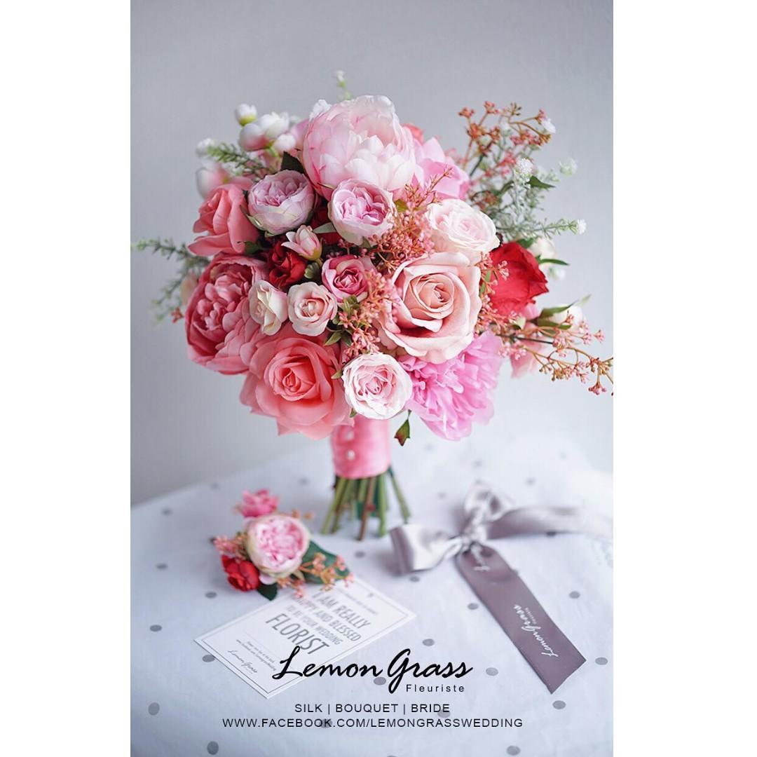 Lemongrass 花球+襟花