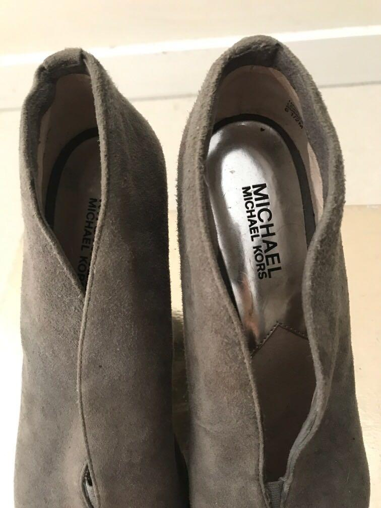 Michael Kors suede grey ankle boots size 6.5 - reasonable offer accepted