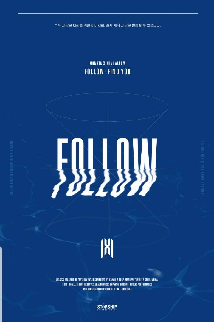 MONSTA X Mini Album 'FOLLOW'-FIND YOU (STARSHIP Pre-order special offer)