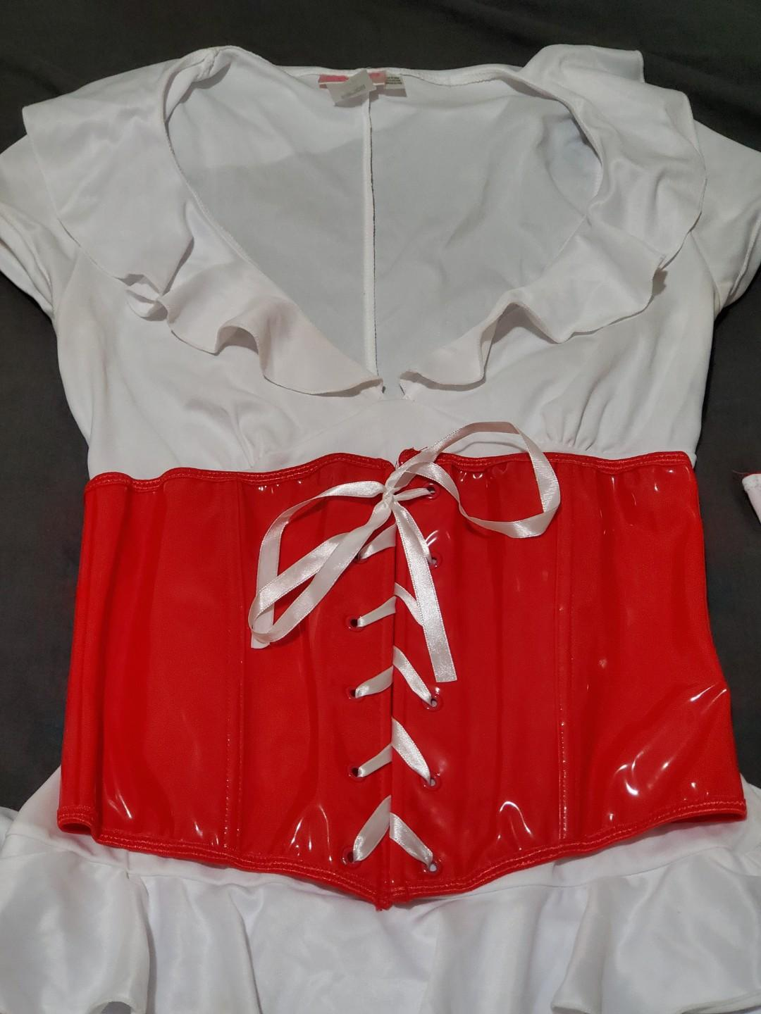 Nurse Halloween Costume Size SMALL (Red and white)