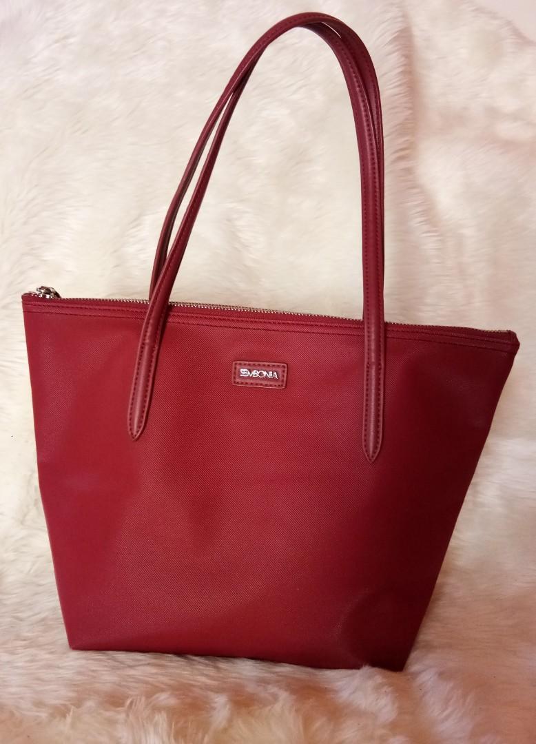 Preloved Sembonia Zipper Tote Bag Authentic #visitsingapore #prelovedwithlove