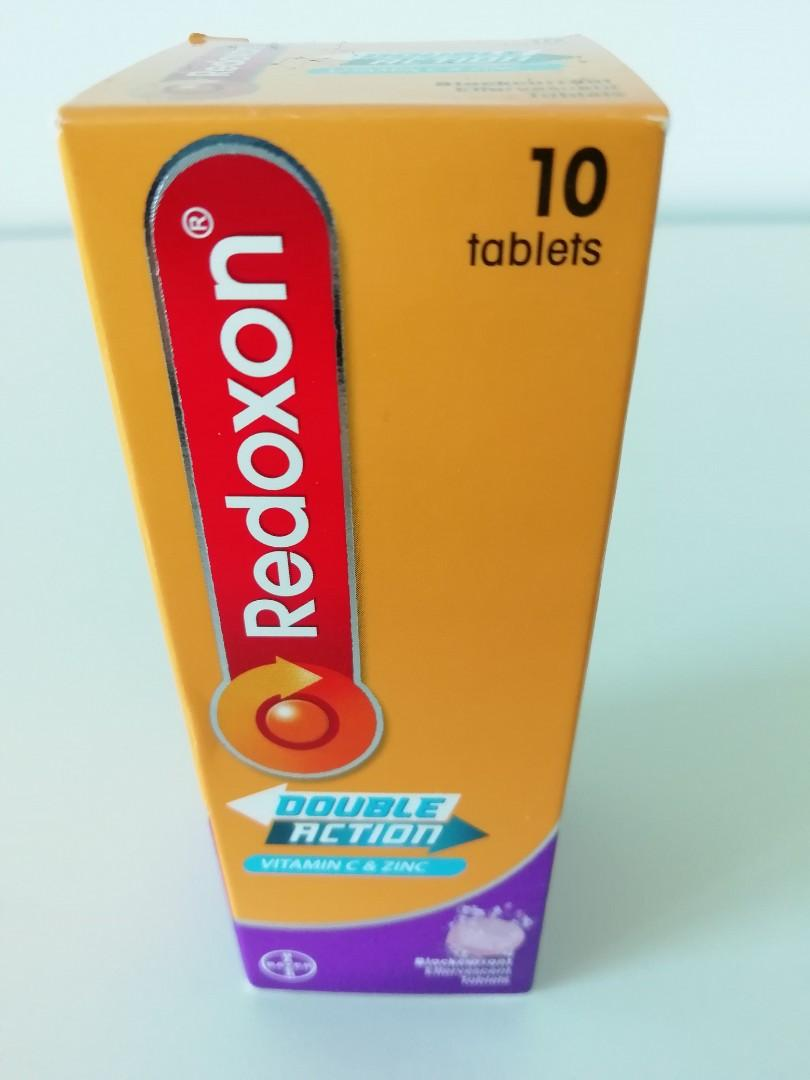 Redoxon Vitamin C and Zinc Blackcurrant Effervescent Tablets